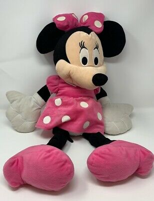 Disney Store Authentic Minnie Mouse Pink and White Plush 24 inches girls Collect