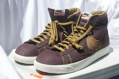 free shipping 99744 d295a Rare Nike Blazer mid 77  Brown Leather SnakeSkin print - size 13 - New w