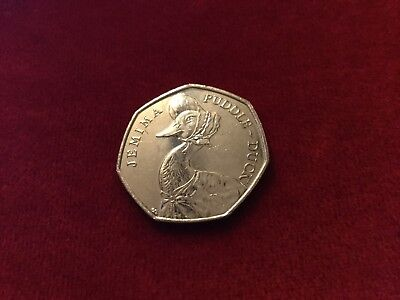 50p coin Beatrix Potter JEMIMA PUDDLE-DUCK, in very good condition.