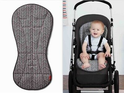 "Skip*Hop Stroll&Go Cool Touch Stroller Liner Grey Feather Universal 30""X14"" NEW"