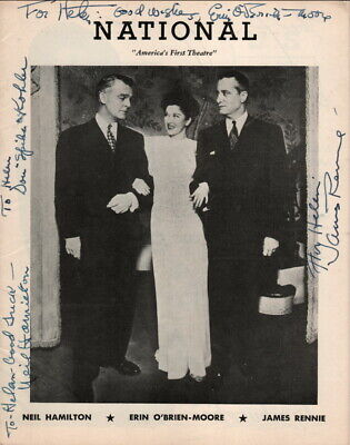 """""""State Of The Union"""", 1947, Erin O'Bien-Moore, Neil Hamilton Autographs + 2 more"""