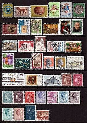 LUXEMBOURG 1946-2002 : Large used selection incl. better values - all different.