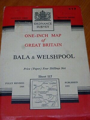 Vintage Rally Ordinance Survey Map117 Bala & Welshpool