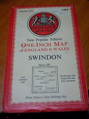 Vintage Rally Ordinance Survey Map157 Swindon