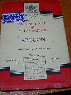 Vintage Rally Ordinance Survey Map141 Brecon