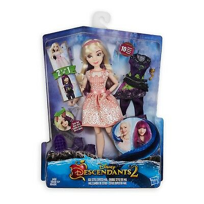 "DISNEY DESCENDANTS 2 MAL ""Isle Style Switch"" DOLL by HASBRO In Box NEW"