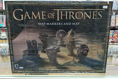 GAME OF THRONES: WESTEROS MAP MARKERS & MAP - MiB - Never Opened!!