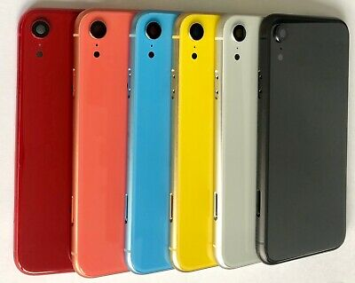 iPhone XR Back Rear Housing Glass Chassis Frame Battery Door Cover with Buttons