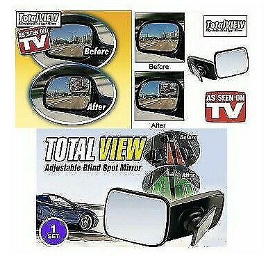2 X Car Blind Spot Mirror Adjustable Wide Angle 360 Rotation Convex Rear View