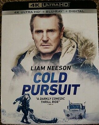 Cold Pursuit 4K Ultra HD + Blu Ray + Digital Movie Brand New Sealed W/Slipcover