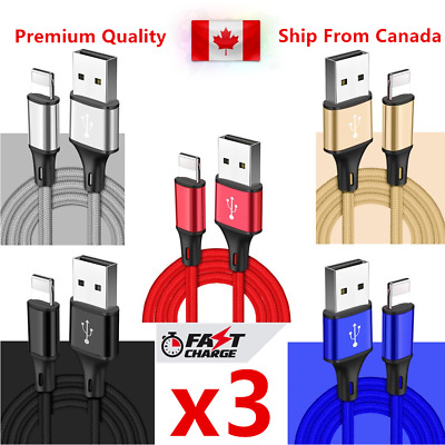 3Pack 8pin Data Sync Charger Cable for iPad iPhone X Xs Max Xr 8 8Plus 7 6s 6 5