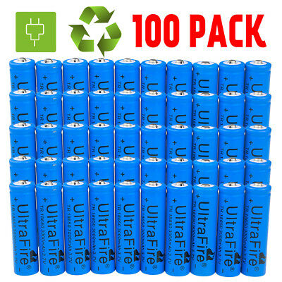 Lot Ultrafire 3000mAh 3.7V Li-ion Rechargeable Battery for LED Flashlight Torch