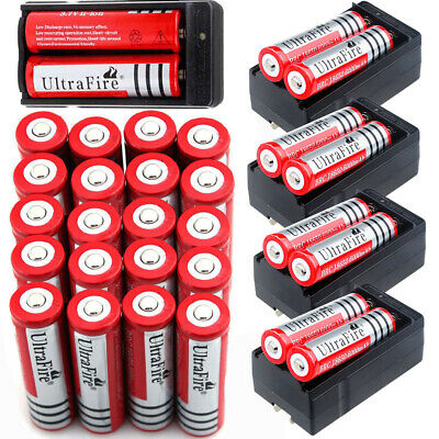 18650 Battery 6000mAh 3.7V Rechargeable Li-ion For Flashlight Smart  Charger -
