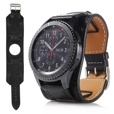 22mm Genuine Leather Band Strap For Samsung Galaxy Watch 46mm / Gear S3 Frontier