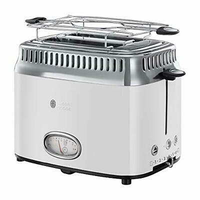 Russell Hobbs Grille-Pain, Toaster Rétro Vintage, Fonction Annulation, Dé ...
