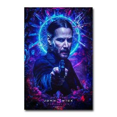 John Wick Chapter 3 Parabellum Keanu Reeves Movie Silk Canvas Poster Print 24x36