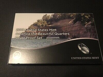 2018 United States Mint America the Beautiful Quarters Silver Proof Set New