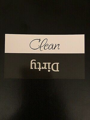 Clean / Dirty Dishwasher Magnet - Glossy Waterproof Magnet - 2 x 3.5 inches.