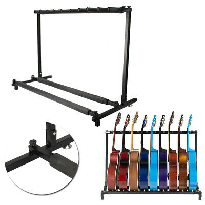 9 Way Multi Guitar Stand Foldable ElectricAcoustic Electric Bass Guitar Rack