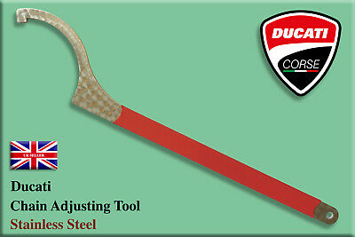 Ducati Diavel Chain Hub Adjusting Tool.................4mm THICK STAINLESS STEEL