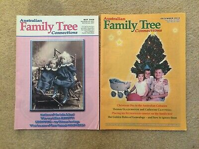 Australian Family Tree Connections magazine - May 2008 & Dec 2012