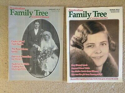 Australian Family Tree Connections magazine - Jan & March 2014