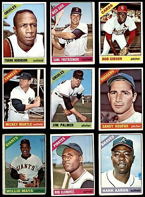 1966 Topps Baseball Low Number Complete Set GD+