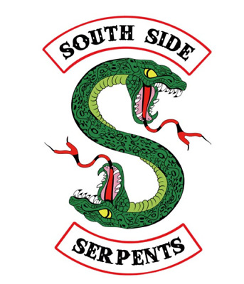 Riverdale Green snake Southside Serpents patches iron on Patch shirt bag jacket