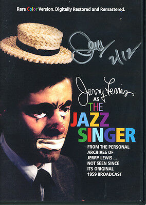 (Ssg ) Muy Rara Jerry Lewis Firmado Completo The Jazz Singer DVD - PSA/DNA COA