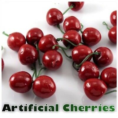 Artificial Fake Plastic Cherry Fruit Food Party Table Decorative Bowl Arts Craft