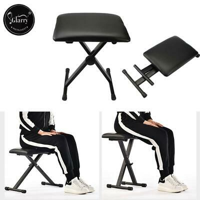 Glarry Black Piano Stool Fully Adjustable Height Pro X Frame Keyboard Bench Seat