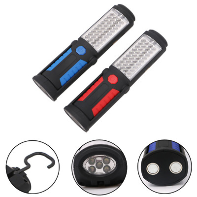 Rechargeable COB+ 5LED Hand Torch Lamp Magnetic Inspection Work Lights Flexible