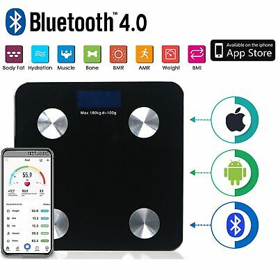 Digital Bluetooth Body Scale Fat Water Bone Calories Water BMI Analyser Bathroom