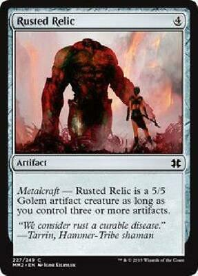 4x Rusted Relic Modern Masters 2015 Magic Verrostetes Relikt