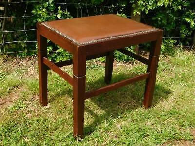 A GOOD 20th CENTURY ANTIQUE PIANO DRESSING STOOL OR FOOTSTOOL