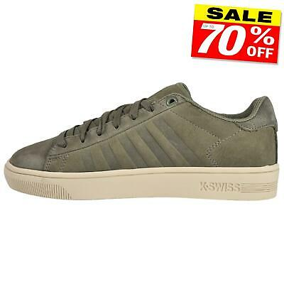 K Swiss Court Frasco Mens Classic Casual Retro Lifestyle Sneakers Trainers Olive