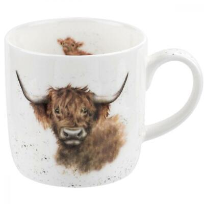 Wrendale Highland Coo (Cow) Single Mug, Bone China, Multi-Colour, 11 x 6.5 x...