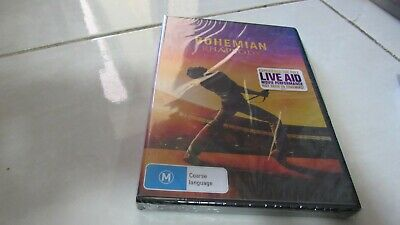Bohemian Rhapsody (DVD, 2019), Freddie Mercury, Queen, Brand NEW ,Free REG Post