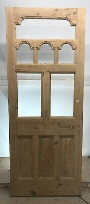 Edwardian Front Door  Reclaimed Wood Period Old Antique Pine Blank Canvas Diy