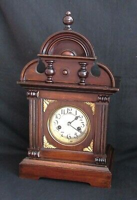 Nice German Badische Uhrenfabrik Edwardian Striking Mantle Clock.