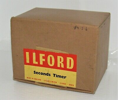 Vintage Ilford Seconds Photographic Darkroom Timer Box Only