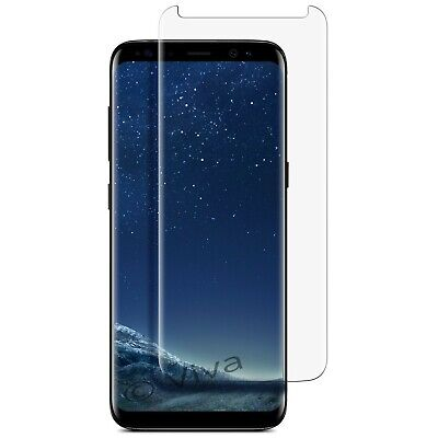 Screen Protector For SAMSUNG Galaxy S8 TEMPERED GLASS Cover - 100% BLACK