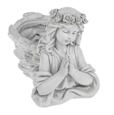 Praying Angel Planter Plant Pot Ornament Remembrance Memorial Grave Gift