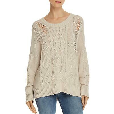 Sisters Womens Red Cable Knit Long Sleeves Pullover Sweater Top S//M BHFO 2511