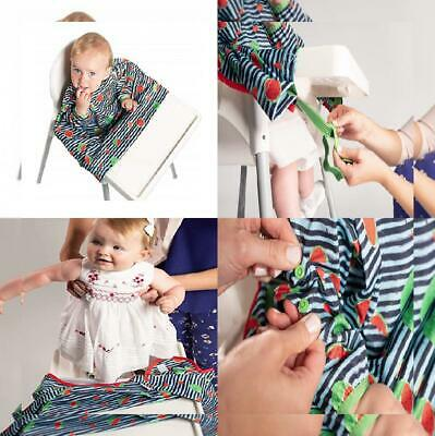 Weaning Bib, BIBaDO Baby Feeding Coverall Straps To Any Highchair, Ideal Navy