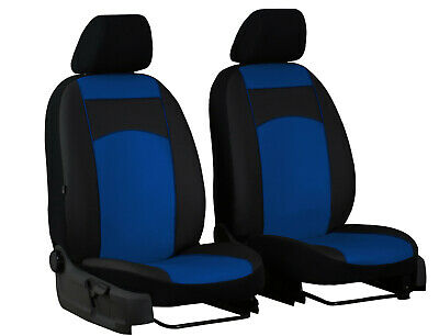 """NISSAN NOTE 2004 ONWARDS ARTIFICIAL LEATHER FRONT UNIVERSAL SEAT COVERS """"Blue"""""""