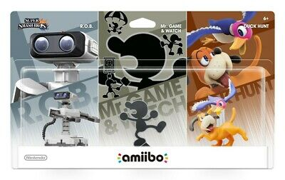 Amiibo Retro 3 Pack ( Rob , Duck Hunt, Mr Game and Watch)  Tags only
