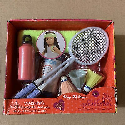 New Our Generation Doll Phys.Ed Gear Play Set Badminton Sports 18 Inch Doll