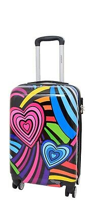 4 Wheel Multicolour Cabin Size On-Board Suitcase Travel Hand Luggage Bag HLG920