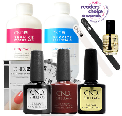 CND Shellac Student Starter Kit, Top/Base/Essentials/Color Dark Lava